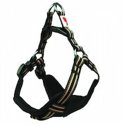 Long Paws Black Comfort Collection Padded Harness M