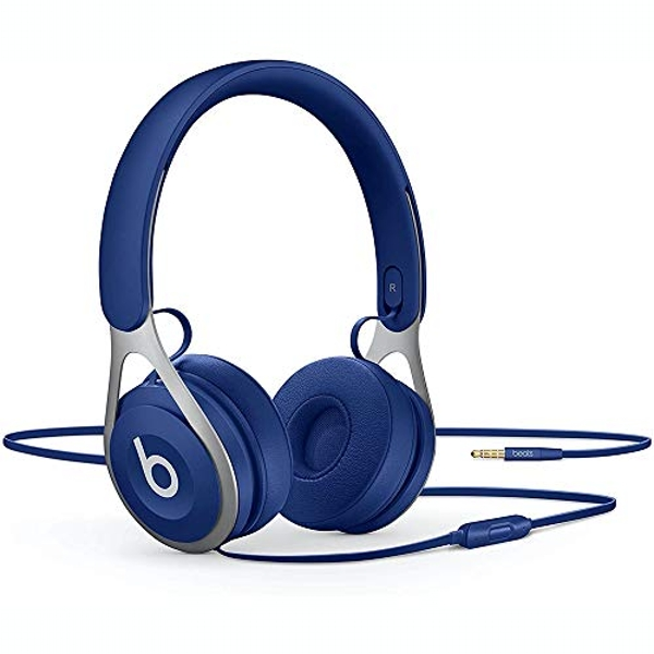Image of Beats Ep Wired On-Ear Headphones - Battery Free For Unlimited Listening, Built In Mic And Controls - Blue