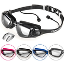 Swimming Goggles Black with Clear Lenses