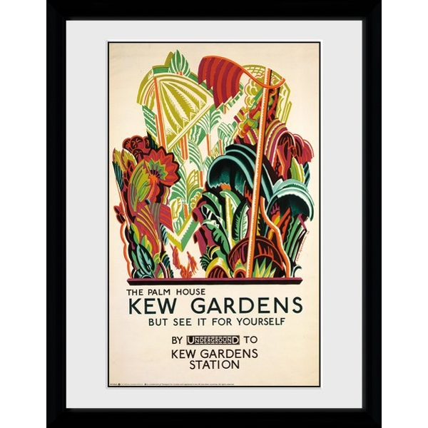 """Transport For London Kew Palm House 12"""" x 16"""" Framed Collector Print"""