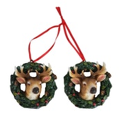 Stag Head in Wreath Ornament