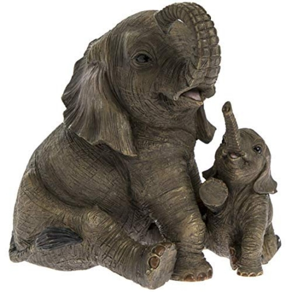 Elephant With Calf Figurine By Lesser & Pavey
