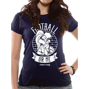 Looney Tunes - Football Or Me Women's XX-Large T-Shirt -Blue