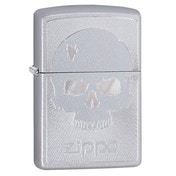 Zippo Skull With Lines 1 Chrome Regular Windproof Lighter