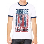 Justice League Movie - Strips Men's Medium T-Shirt - White