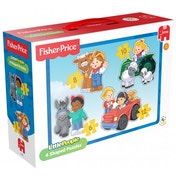 Fisher Price Little People 4 in 1 Shaped Jigsaw Puzzle