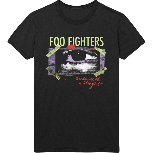Foo Fighters - Medicine At Midnight Taped Unisex Large T-Shirt - Black