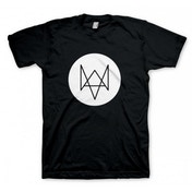 Watch Dogs Fox T-Shirt Small Black