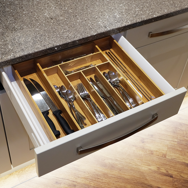 Bamboo Extending Cutlery Drawer Tray | M&W - Image 4