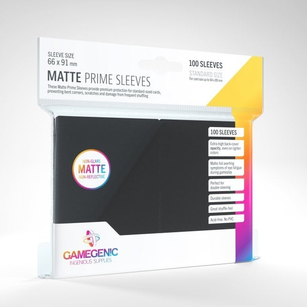 Gamegenic Matte Prime Black - 100 Sleeves