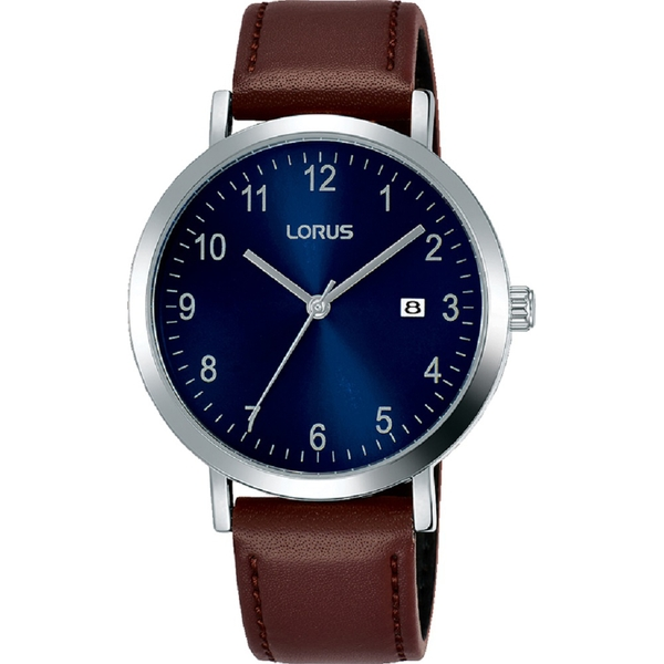 Lorus RH939JX9 Mens Dress Watch with Sunray Blue Dial & Clear White Arabic Numerals