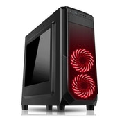 Spire Prism ATX Gaming Case with Window No PSU with RGB LED Fans in Black