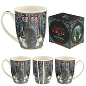 Sacred Circle Cat Lisa Parker New Bone China Mug