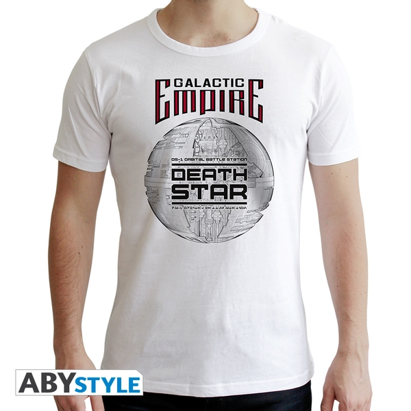 Star Wars - Death Star Men's Medium T-Shirt - White
