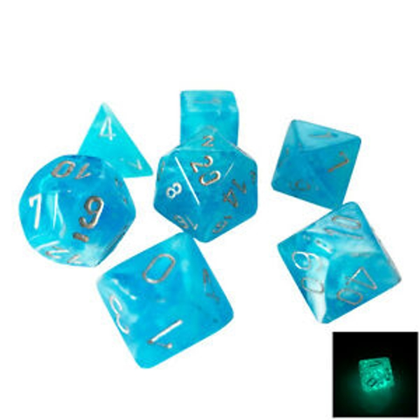 Chessex Poly 7 Dice Set: Luminary Sky With Silver