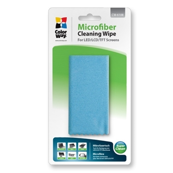 ColorWay Multipurpose Double Sided Microfibre Cleaning Wipe