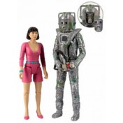 Doctor Who Peri And Rogue Cyberman Figurine Set