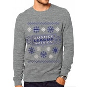DC Originals - Justice League Xmas Men's Medium Jumper - Grey