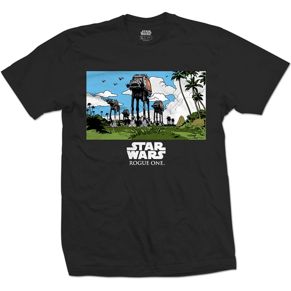 Star Wars - Rogue One AT-AT March Unisex Large T-Shirt - Black