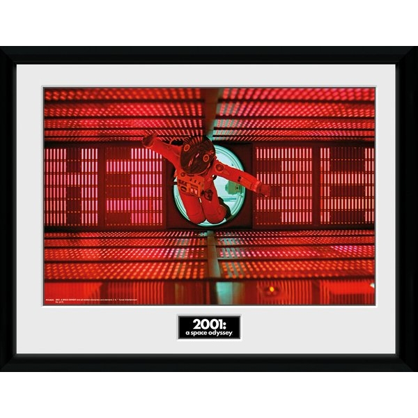 2001 A Space Odyssey Astronaut Red Framed Collector Print
