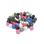Polyhedral D20 Dice - 50 Pack (Assortment)