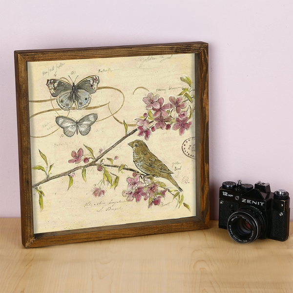 KZM454 Multicolor Decorative Framed MDF Painting