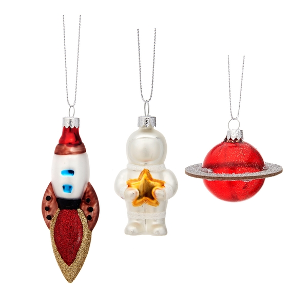 Sass & Belle (Set of 3) Outer Space Shaped Baubles