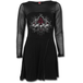 In Goth We Trust Women's Small Mesh Sleeve Flare-Wrap Dress - Black - Image 2
