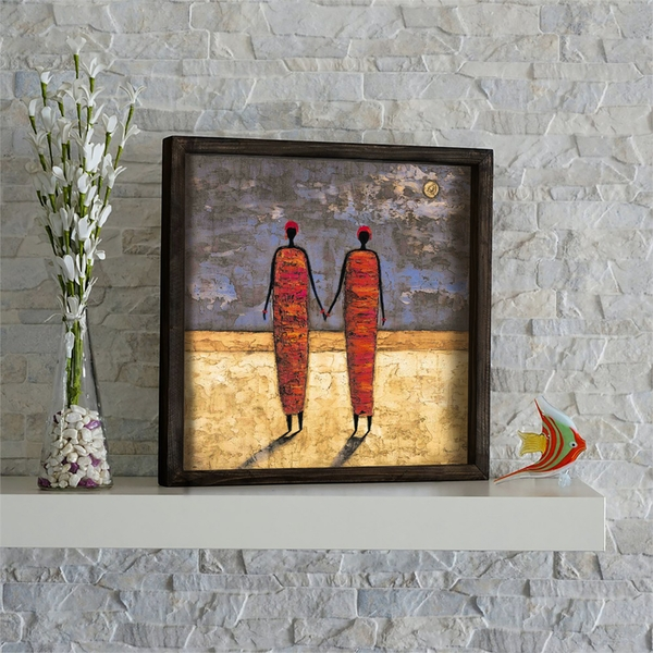 KZM419 Multicolor Decorative Framed MDF Painting