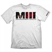 Mafia III Mens Logo & Family Tagline Small White T-Shirt