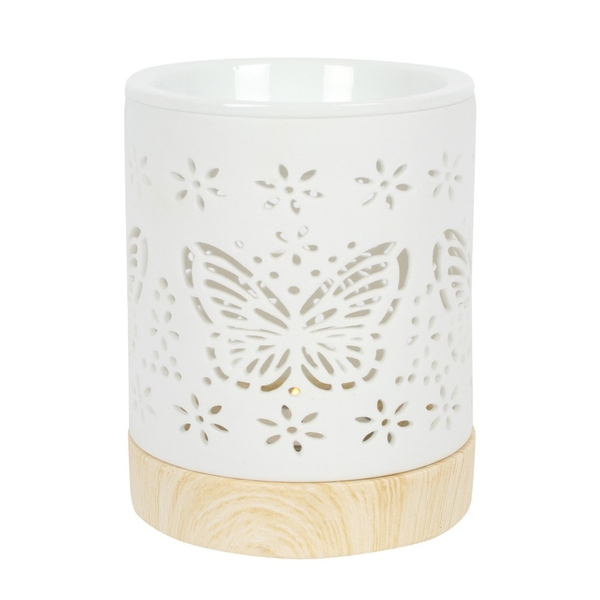 Matte Ceramic Butterfly Oil Burner