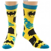 Batman Symbols Onesize Socks - Yellow & Blue