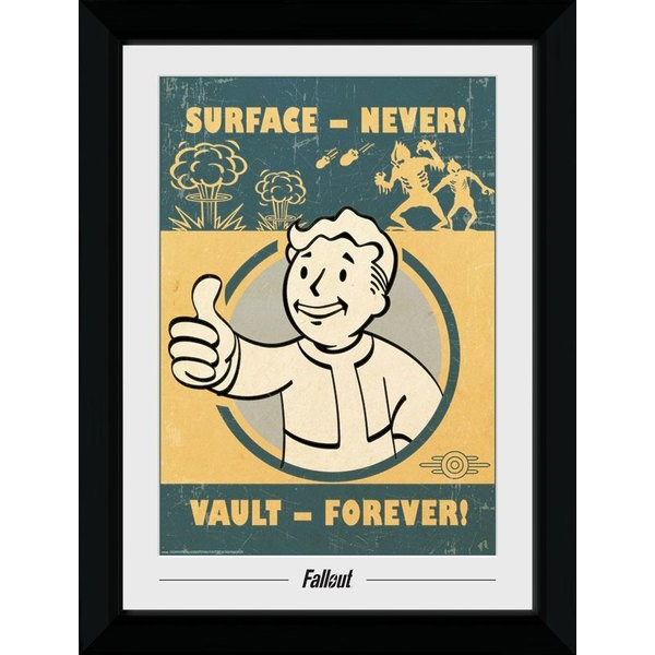 Fallout Vault Forever 50 x 70cm Collector Print
