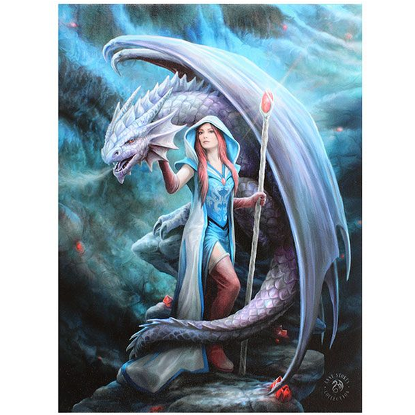 Small Dragon Mage Canvas Picture By Anne Stokes Nzgameshop Com