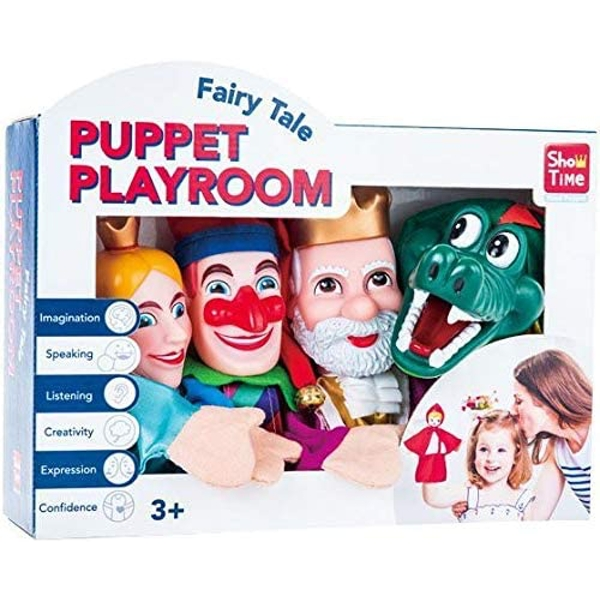 4 Large Punch & Judy Hand Puppets