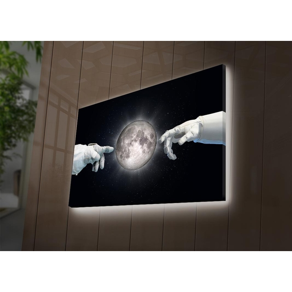NASA-004 Multicolor Decorative Led Lighted Canvas Painting