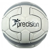 Precision Cordino Match Football (White/Silver/Black) Size 3