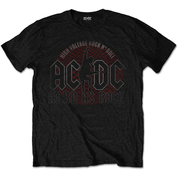 AC/DC - Hard As Rock Men's Large T-Shirt - Black