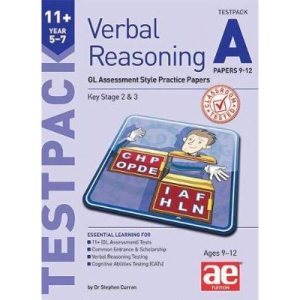 11+ Verbal Reasoning Year 5-7 GL & Other Styles Testpack A Papers 9-12 GL Assessment Style Practice Papers Mixed media product 2019