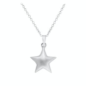 Pretty 3d Star Necklace