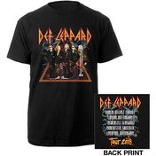 Def Leppard - 2018 Tour Photo Men's Large T-Shirt - Black