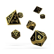 Oakie Doakie Dice RPG Set Metal (Alchemy Gold)