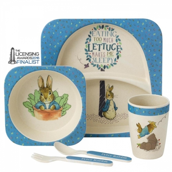 Peter Rabbit Organic Border Fine Arts Dinner Set - Image 1