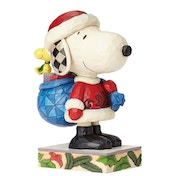 Here Comes Snoopy Claus and Woodstock (Peanuts) Jim Shore Figurine