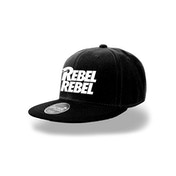 David Bowie - Rebel Rebel Snapback - Black/ White
