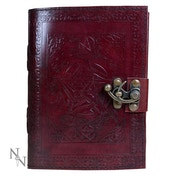 Pentagram Leather Journal w/lock