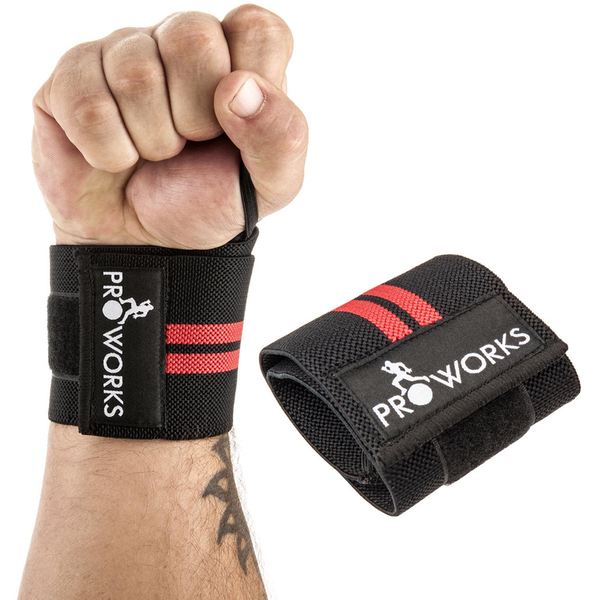 Proworks Adjustable Weight Lifting Bodybuilding Wrist Wrap - Black 2