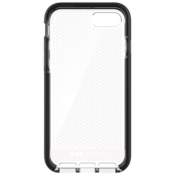 Tech21 T21-5403 Evo Mesh Case Cover for Apple iPhone 7 / iPhone 8 - Clear Black