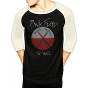 Pink Floyd - Wall Logo Men's Small Baseball Shirt - Black
