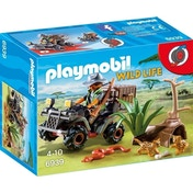 Playmobil 6939 Wildlife Evil Explorer and Quad with Pullback Motor